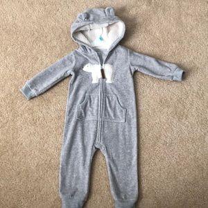 Baby fleece jumpsuit